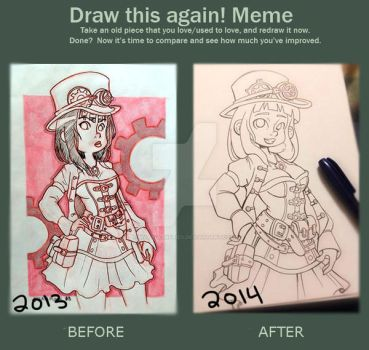 Draw this Again Meme (2013-2014) by WafflezNFries