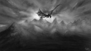 dragon by z0h3