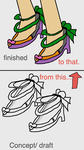 Shoes for chibi venus princess outfit by TanithLipsky