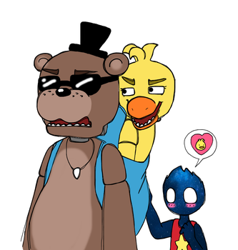 Banjo Kazoo- I mean, Freddy and Chica by Chaos55t