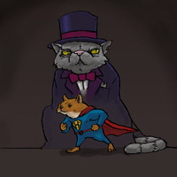 Superhamster and Friend? by cluis