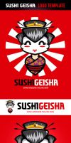 Sushi Geisha Logo Template by odindesign