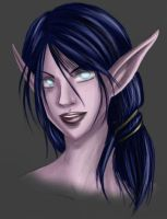Night Elf Sketch by TheCatlady