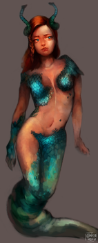 Snake mermaid by VEKTTOR