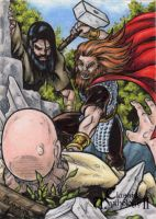 Thor Sketch Card - Classic Mythology II by tonyperna