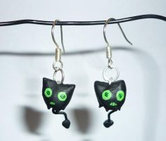 Coal Tar Earrings by noot
