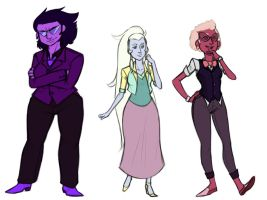 Crystal Gem Fusions High School AU by ToyheNoctus