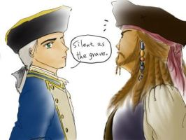 Sparrow and Norrington by LtKY