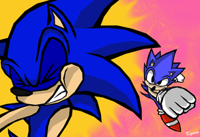 Old x New Sonic by kyuyoukai