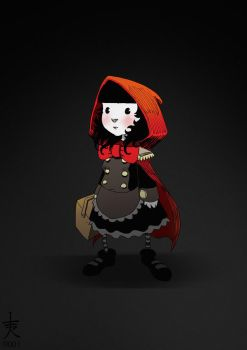 Little Red Riding Goth by rhiver