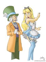 Alice and Hatter by geloso