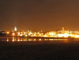 St Andrews Beach at Night 2 by leilaphoenix