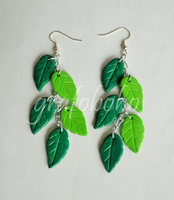 Fimo-Leaves-Earrings by grafoboho