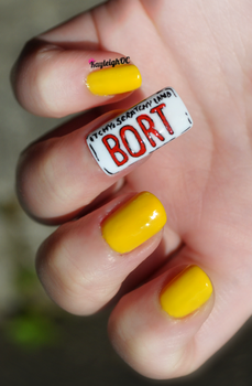 The Simpsons Nail Art - Bort by KayleighOC