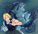 The Elric Brothers by Perfectlykawaii93