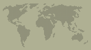 dotted world map by twitte0king