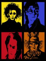 TIM BURTON CARARCTER POP ART by RetardMessiah