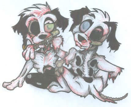 Lucky and Two-Tone -Undead- by OriginalOddball