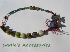 By the Sea Wire-Wrapped Necklace II by SadiesAccessories