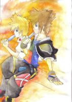 Sora and Roxas by MemoryInTime