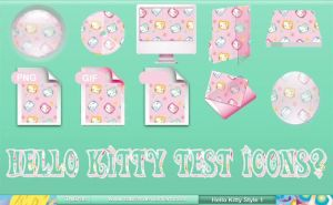 Hello Kitty Style 1 Test Icons by TNBrat