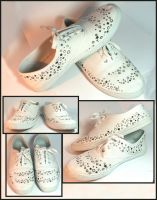 Star and Moons Custom Shoes by callmezippy