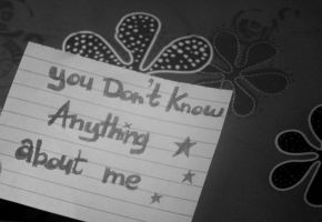 u dn't knw anything abt me by yalutre190