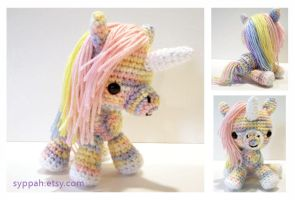 Pastel Rainbow Unicorn by syppahscutecreations
