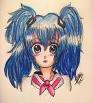Sailor Miku colored by leafyloo