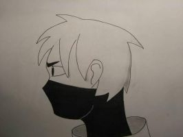 Human Death Tooth (Headshot Sideview No Color) by Blueghost136