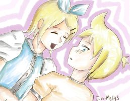 Rin and Len Doodle o3o by Just-Me143