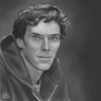Benedict Cumberbatch as Sherlock by kethien