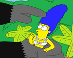 King Homer and Marge-coloured by scifiguy9000