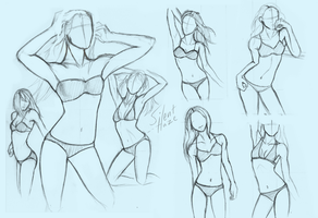 quick pose sketches by Silent--Haze