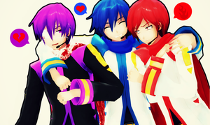 MMD - Shion Brothers! by Shichi-4134