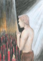 Alistair's night prayer (Dragon Age) by polinaart1