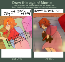 Before and After Meme - One of Repetition by courbeause