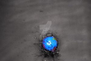 drowning earth by disco-ball