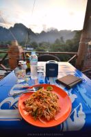 Vang Vieng Dinner by drewhoshkiw