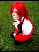 Grell Cosplay wait for you by Moin2D