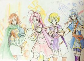 GSTLA- United As One Party by Akane-Churi