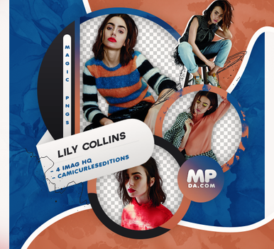 PACK PNG 789| LILY COLLINS by MAGIC-PNGS
