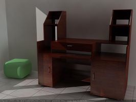 my computer desk by simbahswan
