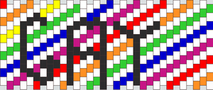 Gay kandi pattern by ninjalove134