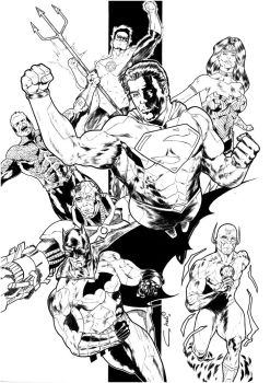 JLA BIG COMMISSION by robertcheli