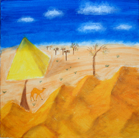 Lonely Pyramid by oiltocanvas