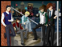 Gundam Wing Boys - Boy's Night by TerraForever