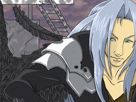 sephiroth commission by Foxysuji