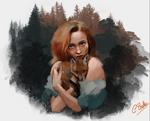 The girl and the fox (work in progress) by Cate397