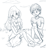 Neville and Luna- Summertime by Artemismoon12